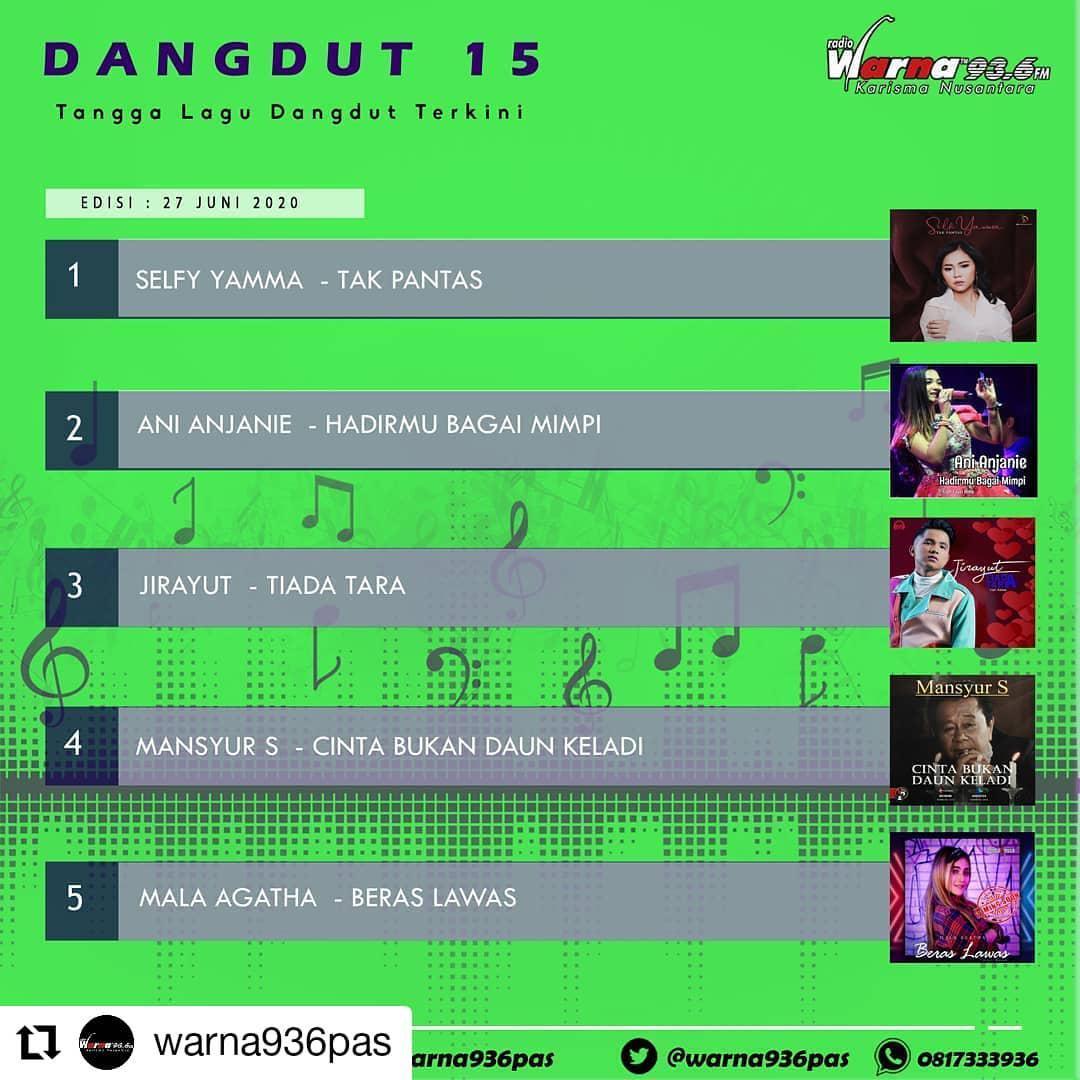 Chart 15 Besar Radio Warna Edisi 27 Juni